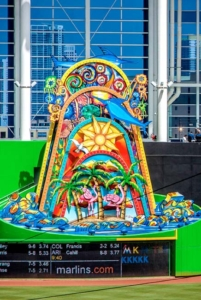 75ft Home Run Sculpture Designed by Red Grooms