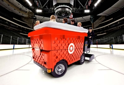 Big Red Shopping Basket Zamboni for Target Corporation