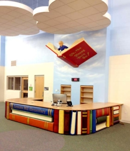 Children and Book Sculptures for SCB Architects