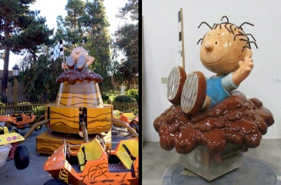 Pig Pen Ride Topper for Knott's Berry Farm