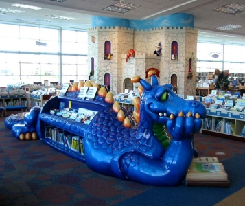 20ft Dragon Bookshelf for Brookdale Library