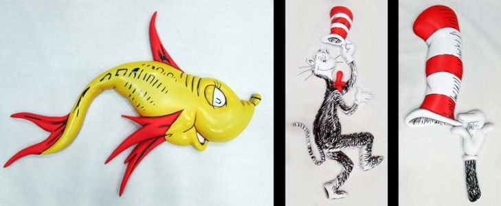 Dr. Seuss Wall Elements for Carnival Cruise Lines