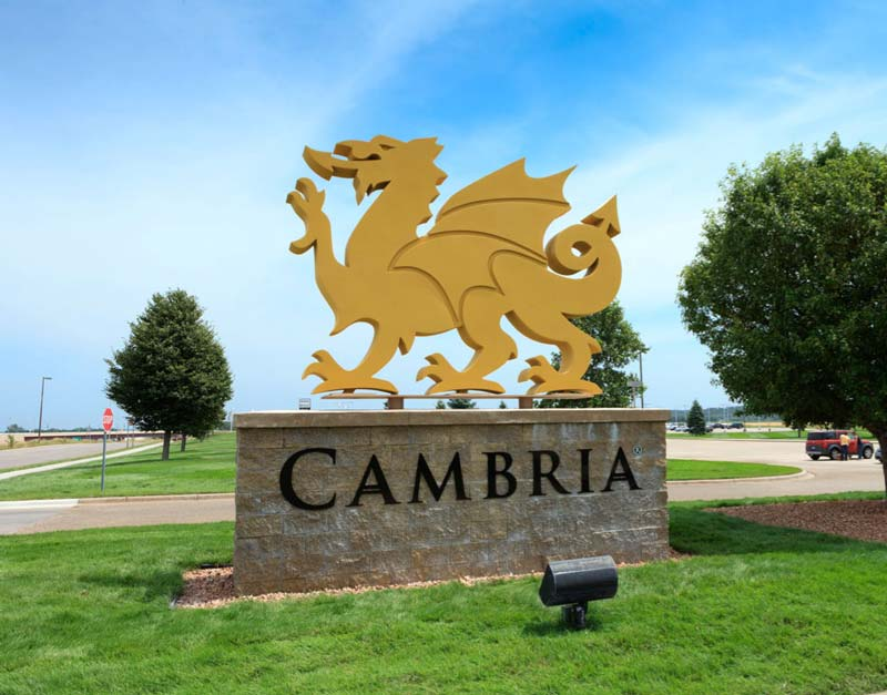 13ft Dragon Sign for Cambria