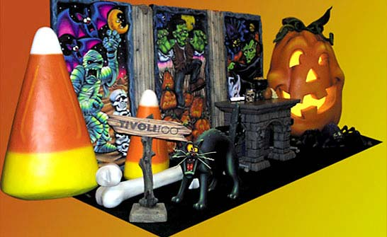 Halloween Trade Show Booth for TivoliToo