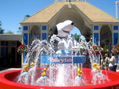 5ft Snoopy & Woodstocks Water Fountain for Valleyfair Amusement Park