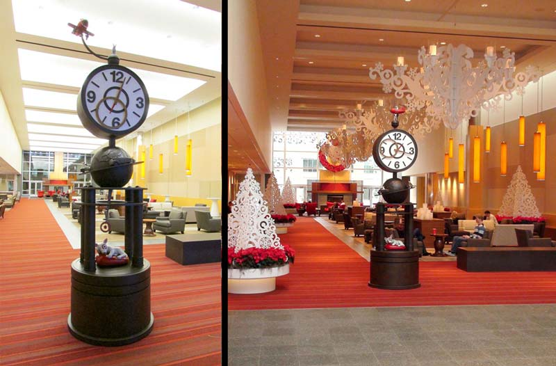 13ft Great Hall Bronze Clock for Target