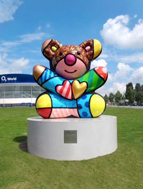 17ft Berlin Friendship Bear Designed by Romero Britto