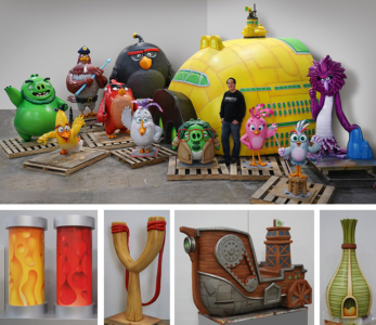 Angry Birds Mini-Golf Character and Prop Sculptures