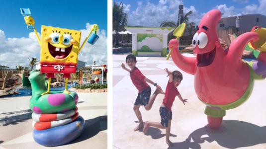 Nickelodeon Character Pool Deck Water Features - Aqua Nick, Punta Cana