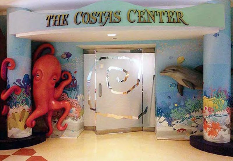 Costas Center Themed Entryway for Cardinal Glennon