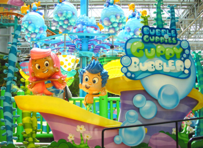 Bubble Guppies Theming - Mall of America - Nickelodeon Universe - Bloomington, MN
