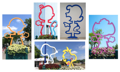 PEANUTS Celebration 5'-8' Character Outline Sculptures - Valleyfair - Shakopee, MN
