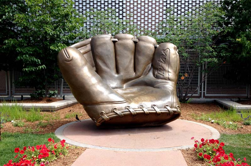 Custom 10ft Gold Glove Bronze
