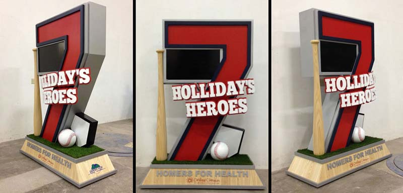 Holliday's Heroes Donor Recognition Statue for Cardinal Glennon