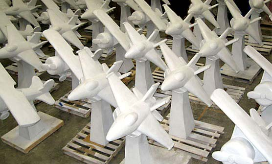 5ft Airplane Statues for Crystal City Business Improvement District