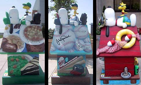 Custom Snoopy on the Doghouse Statues