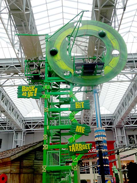 24ft Zipline Target and Signs for Mall of America