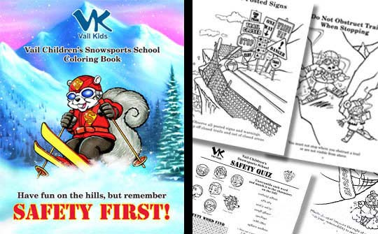 Safety Coloring Book for Vail Resort
