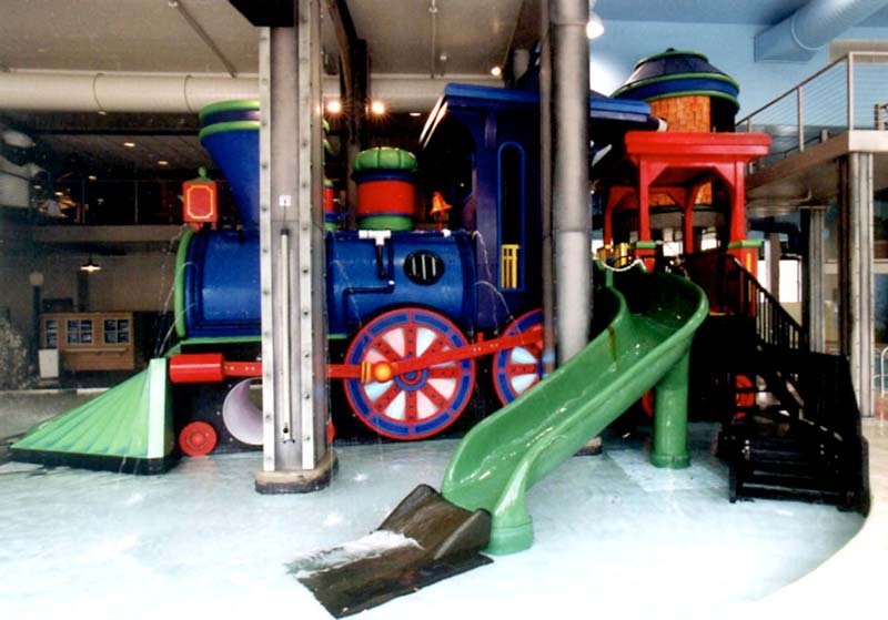 Train Water Slide for CSM Corp. / The Depot Waterpark