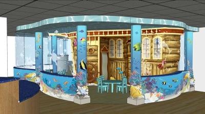 Ship Play Area 3D Model Design for Cardinal Glennon