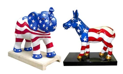 5ft Donkey and Elephant Statues for D.C. Commision on the Arts and Humanities