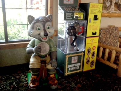 4.5ft Wiley Penny Machine Sculpture for Great Wolf Resort