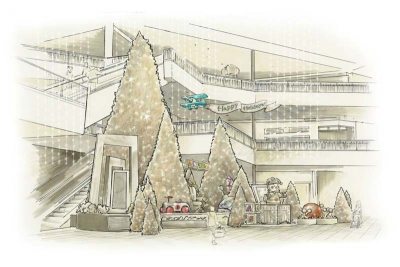 Santaland Concept Rendering for Mall of America