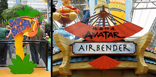 Avatar Ride Entrance Signage for Nickelodeon