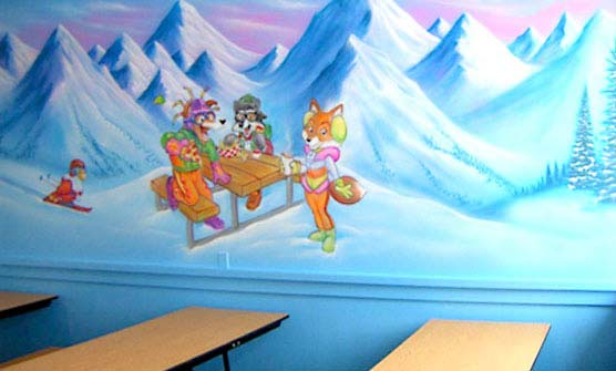 Character Mural for Vail Resort
