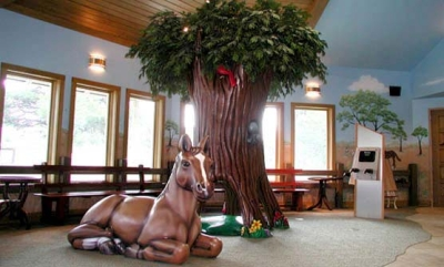 Tree Crawl-Through and Horse Climber for Little Smiles Dentistry
