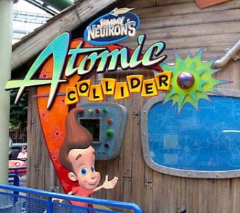 Jimmy Neutron Atomic Collider Ride Sign for Nickelodeon