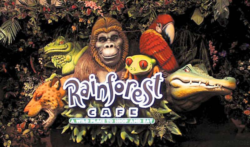 Rainforest Cafe Sign for Rainforest Cafe