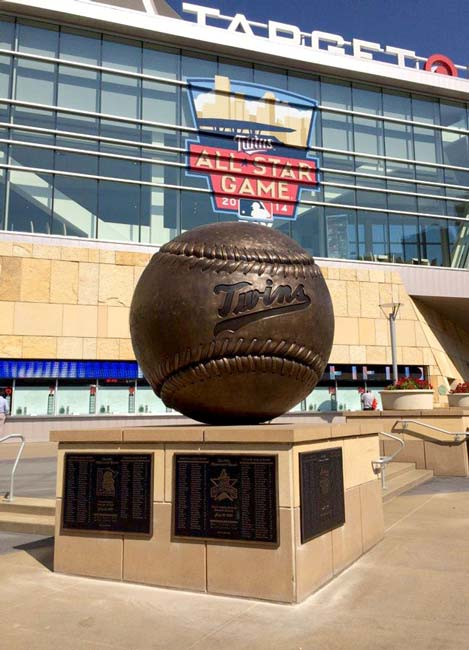 7.5ft diameter Baseball Bronze for MN Twins