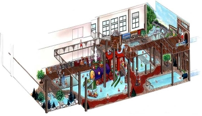 Waterpark Perspective Drawing for CSM Corp/The Depot Waterpark
