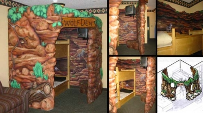 Wolf Den Kids Hotel Rooms for Great Wolf Resort