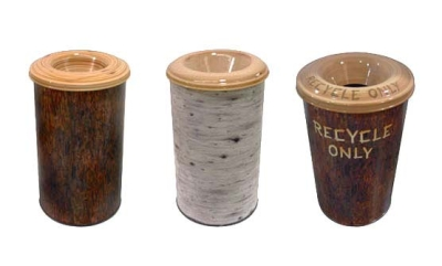 Nature Trash Cans for Great Wolf Resort