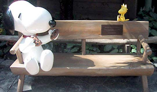 Custom 4.5ft Snoopy and Woodstock Bench