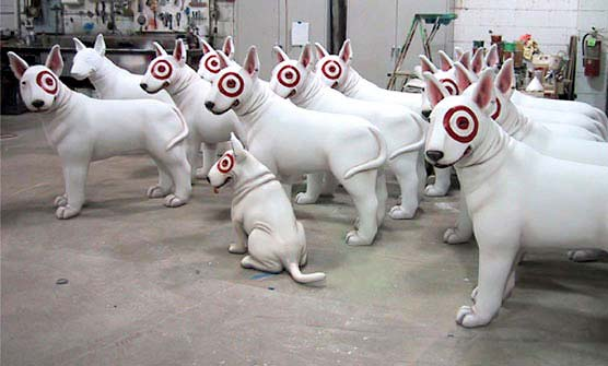 4ft Bullseye the Dog Statues for Target
