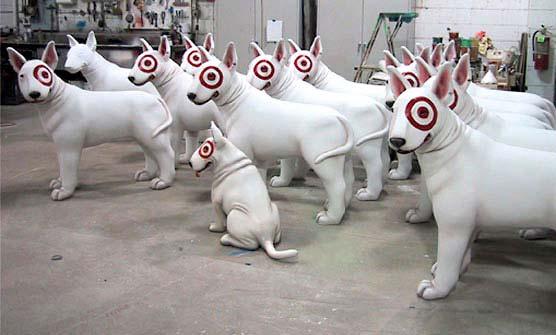 4ft Bullseye the Dog Statues for Target