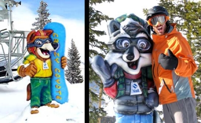 Crazy Coyote and Ranger Raccoon Greeters for Vail Resort