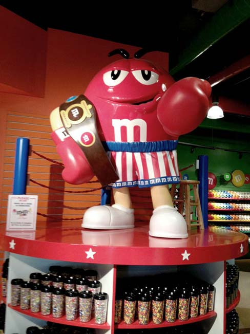5ft Red Boxer M&M for Mars World