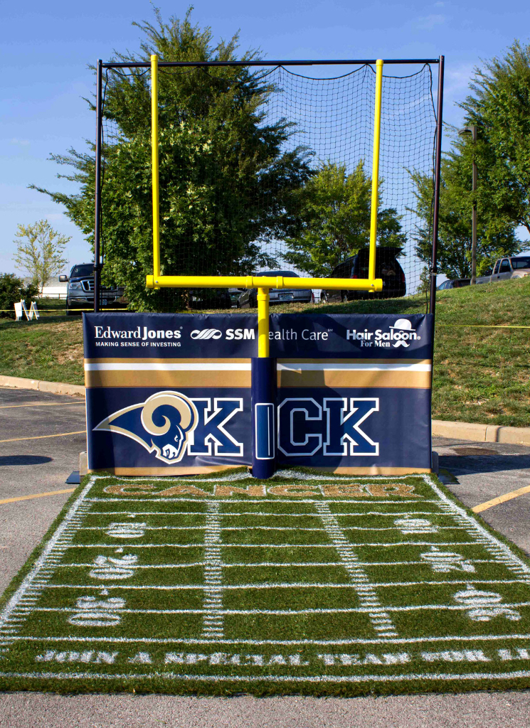 KICK CANCER Portable Football Kiosk for SSM Health Care Foundation