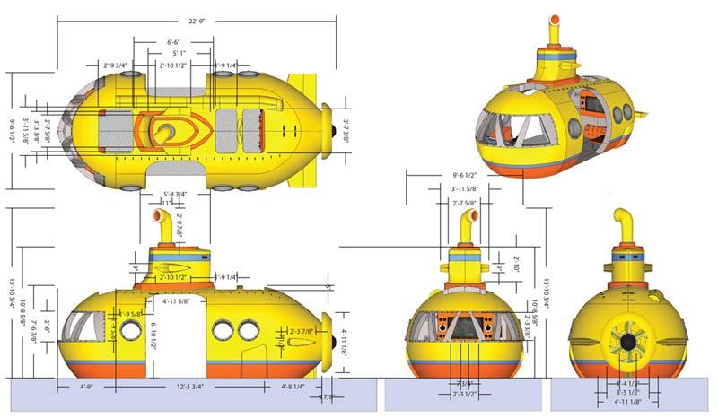 Submarine Technical Model for Cardinal Glennon