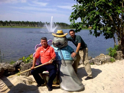 6ft Al the Manatee Bench for Marriott Vacation Resorts