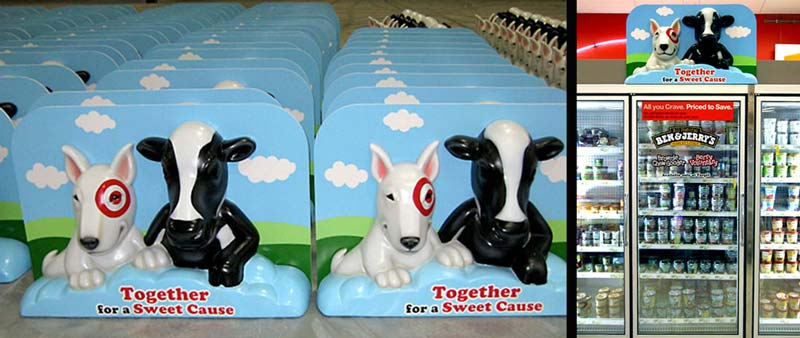 Bullseye and Cow Cooler Toppers for Target