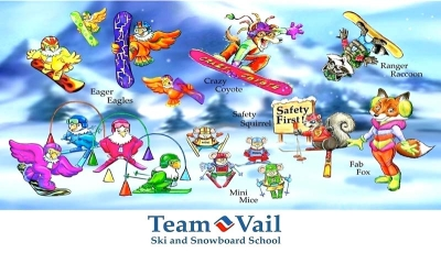 Team Vail Illustrations for Vail Resort