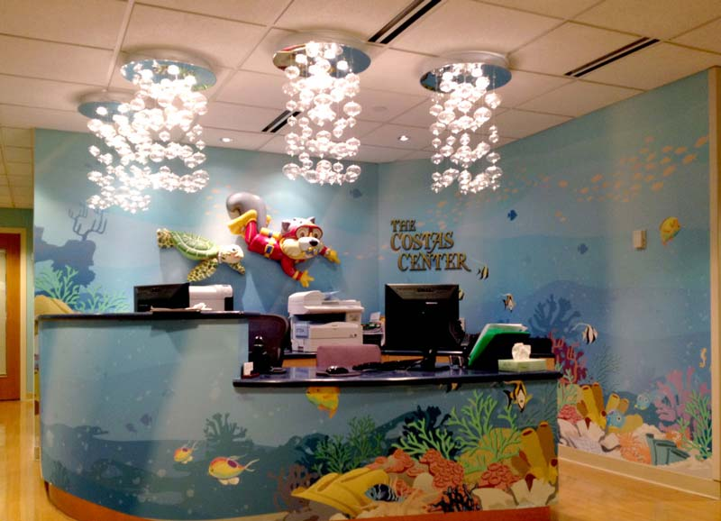 Ocean Themed Reception Area for Cardinal Glennon