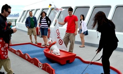 City Target Mini Golf Holes for Rally Marketing / Target