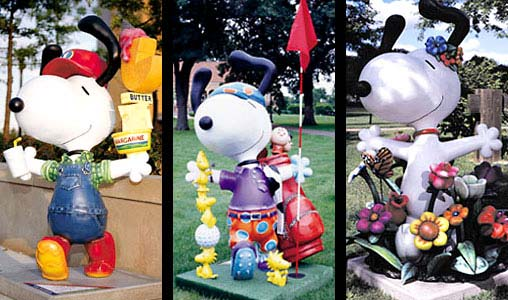 6ft Snoopy Statues for St. Paul