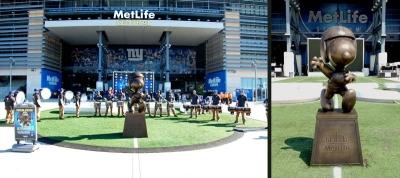 Custom 8ft Football Snoopy on Base Bronze